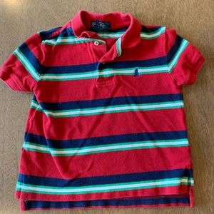 🏇🏼 2/$20 Ralph Lauren Striped Polo Red & Blue 3T